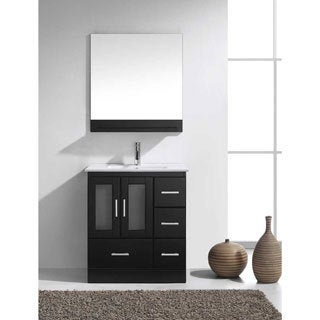 Virtu USA Zola 30-inch Single Bathroom Vanity Set with Faucet and Top Options (Option: Chrome Finish)