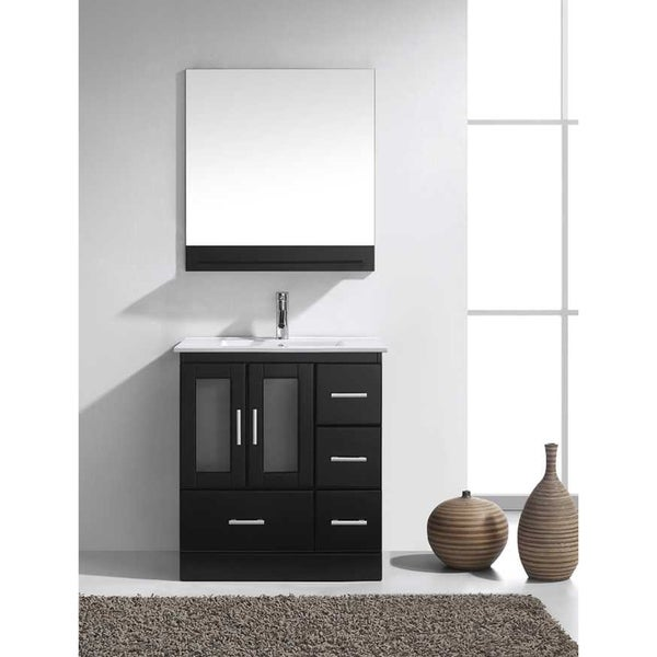 Virtu USA Zola 30 Inch Single Bathroom Vanity Set With Faucet And Top  Options