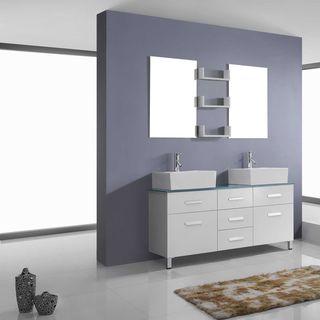 Virtu USA Maybell 56-inch Double Bathroom Vanity Set