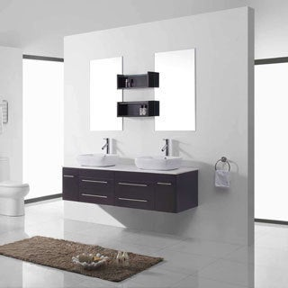 Virtu USA Augustine 59-inch Double Bathroom Vanity Set
