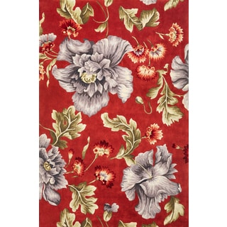 "Ruby 8888 Coral/Blue Splendor (2'3"" x 9'6"") Runner Rug"