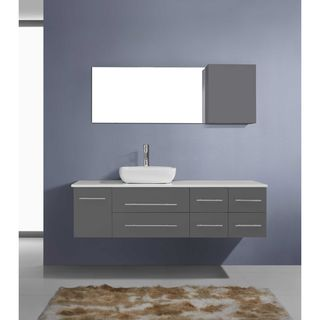 Virtu USA Justine 59-inch Single Bathroom Vanity Cabinet Set