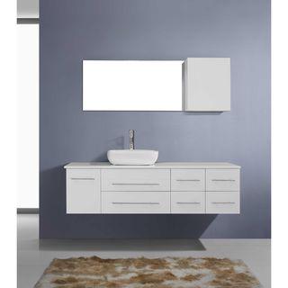 Virtu USA Justine 59-inch Single Bathroom Vanity Cabinet Set