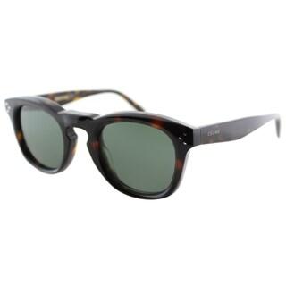 Celine CL 41371 086 Dark Havana Plastic Fashion Grey Green Lens Sunglasses