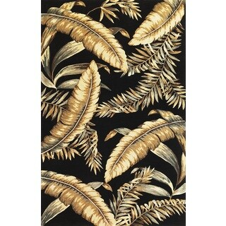 Sparta 3132 Black Ferns Runner Rug (2'6 x 10')