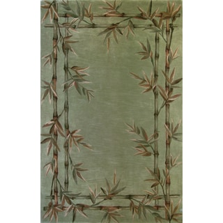 "Sparta 3161 Sage Bamboo Double Border (2'6"" x 10') Runner Rug"