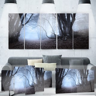 Designart 'Natural Landscape in Autumn' Landscape Photo Metal Wall Art