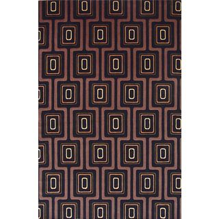 "Tate 8510 Black City Grid(2'6"" x 8') Runner Rug"