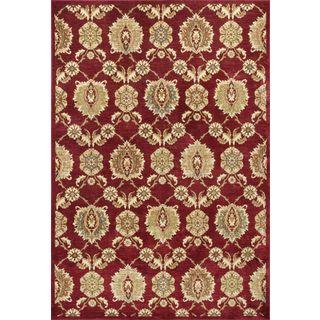 """Versailles 8570 Cardinal Allover Tabriz (2'2"""" x 6'11"""") Runner Rug"""
