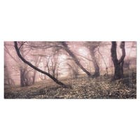 Designart 'Vintage Autumn Landscape' Modern Photo Metal Wall Art