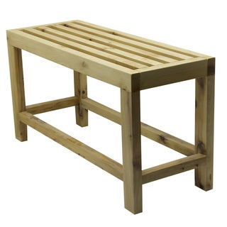 ALFI AB4401 26-inch Solid Wood Slated Single Person Sitting Bench