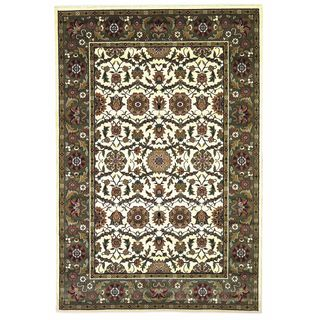 "Cambridge 7307 Ivory/Green Floral Agra (3'3"" x 4'11"") Rug"