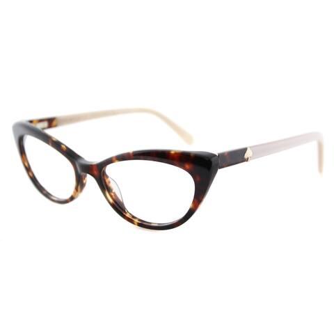 Kate Spade Analena Tortoise Brown 52-millimeter Plastic Cat-eye Eyeglasses