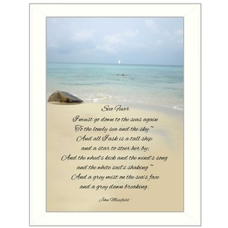 """Sea Fever"" By Trendy Decor4U, Printed Wall Art, Ready To Hang Framed Poster, White Frame"