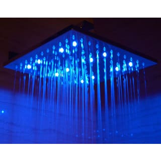 ALFI LED5008 Multicolor Stainless Steel 12-inch Square LED Rain Shower Head
