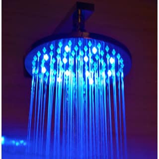 ALFI LED5002 Round Multicolor LED 8-inch Rain Shower Head