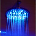 ALFI LED5002 Round Multicolor LED 8-inch Rain Shower Head