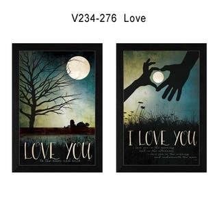 """""""Love"""" Collection By Marla Rae, Printed Wall Art, Ready To Hang Framed Poster, Black Frame
