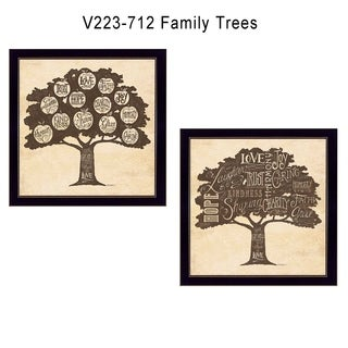 """""""Family Trees"""" Collection By Debbie Strain, Printed Wall Art, Ready To Hang Framed Poster, Black Frame"""