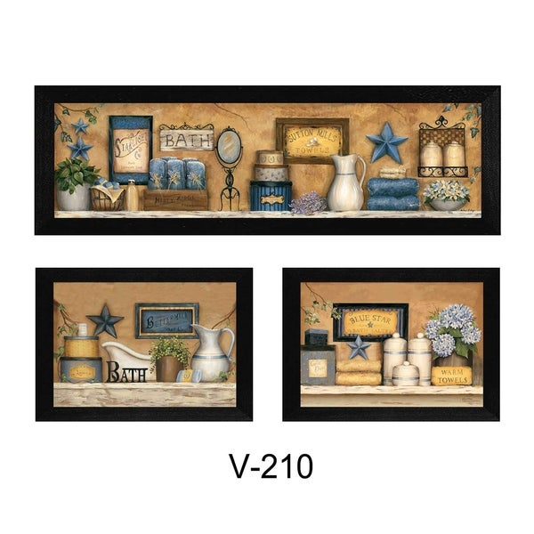 """Shop """"Bathroom Collection III"""" Collection By Carrie Knoff, Printed Wall Art, Ready To Hang"""