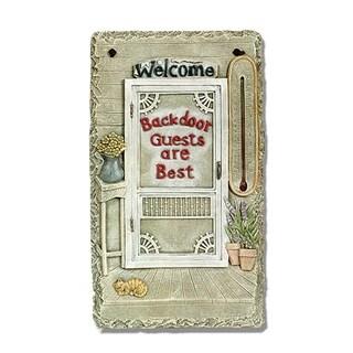 """''Backdoor Guests"""" by Trendy Decor 4U Resin Sculpted Indoor/ Outdoor Plaques"""