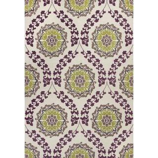 "Mulberry 3403 Ivory/Plum Elegance (3'3"" x 5'3"") Rug"