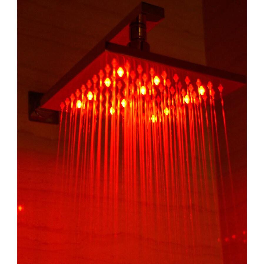 Alfi LED5001 Multi-colored LED 8-inch Square Rain Shower ...