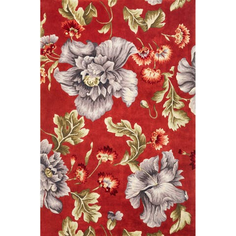 Ruby 8888 Coral/Blue Splendor Rug