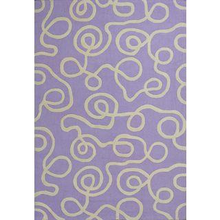 Kozy Kids 0556 Lilac Ribbon Curls (5' x 7') Rug