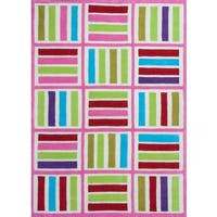 Kozy Kids Ivory/Pink Elements Rug - 5' x 7'