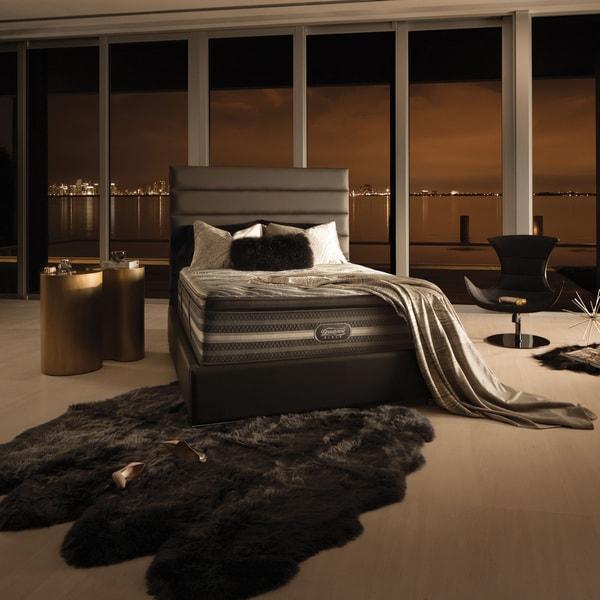 Beautyrest Black Natasha Plush Pillow Top California King Size Mattress Set Free Shipping