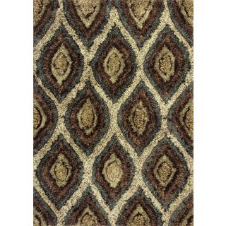 Optic 1111 Mocha Groove (5' x 7') Rug