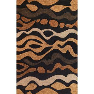 """Milan 2103 Charcoal Landscape (5' x 7'6"""") Rug"""