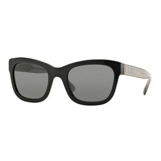 Burberry Women's BE4209 300187 Black Plastic Square Sunglasses