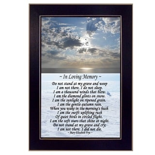 """In Loving Memory"" by Trendy Decor 4U Printed Framed Wall Art"