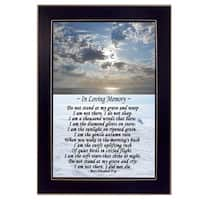"""""""In Loving Memory"""" By Trendy Decor4U, Printed Wall Art, Ready To Hang Framed Poster, Black Frame"""