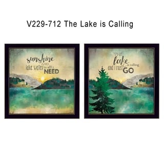"""The Lake is Calling"" Collection By Marla Rae, Printed Wall Art, Ready To Hang Framed Poster, Black Frame"