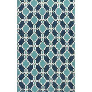 """Solstice 4005 Turquoise Serenity (5' x 7'6"""") Rug"""