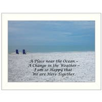 """A Place near the Ocean"" By Trendy Decor4U, Printed Wall Art, Ready To Hang Framed Poster, White Frame"