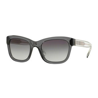 Burberry Women's BE4209 35448G Grey Plastic Square Sunglasses