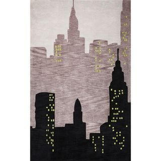Bali 2878 Black City View (5' x 8') Rug