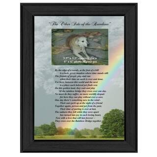 """Rainbow Bridge"" By Trendy Decor4U, Printed Wall Art, Ready To Hang Framed Poster, Black Frame|https://ak1.ostkcdn.com/images/products/11871922/P18770307.jpg?impolicy=medium"