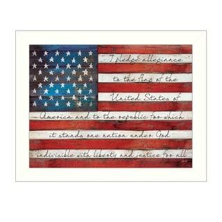 """Pledge of Allegiance"" by Marla Rae Printed Framed Wall Art"