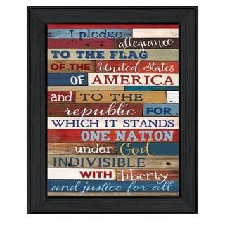8-inch long Pledge of Allegiance Framed Art