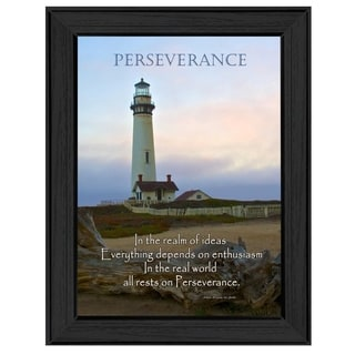 "'Perseverance"" by Trendy Decor 4U Printed Framed Wall Art"