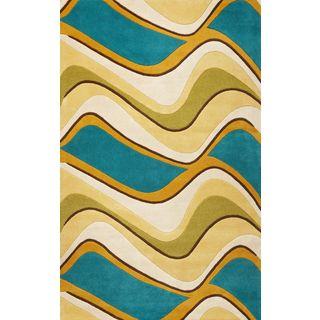 Eternity 1098 Lime/Teal Waves (5' x 8') Rug