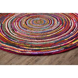 Jani Sula Multi Color Cotton Round Rug (6' Round)