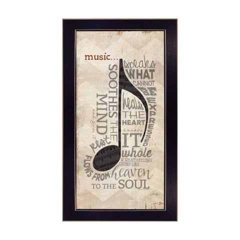 """Music"" By Marla Rae, Printed Wall Art, Ready To Hang Framed Poster, Black Frame"