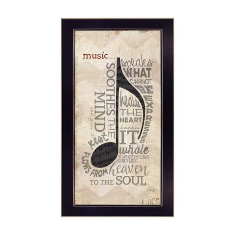"""""""Music"""" By Marla Rae, Printed Wall Art, Ready To Hang Framed Poster, Black Frame"""