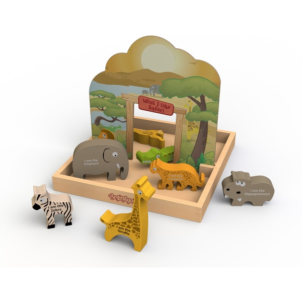 BeginAgain 'What I Like Safari' Story Box Pop-up Playset